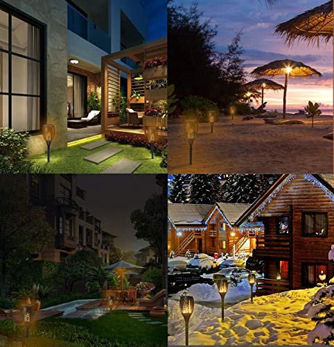Solar Torch Light, Outdoor Waterproof Flickering Flames Solar Torches Dancing Flames Landscape Decoration Lighting Lamp for Garden Patio Deck Yard Driveway Pathway (4 Pack) by Wiw (Image #7)
