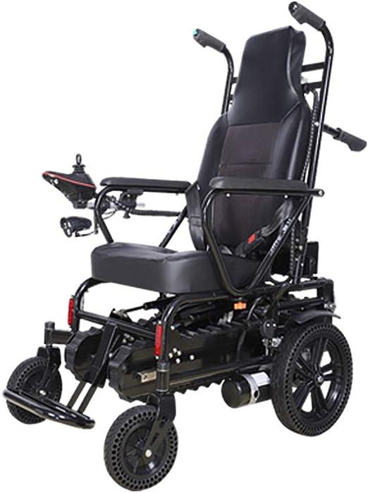 Silla de ruedas eléctrica para subir escaleras - Silla de ruedas eléctrica para subir escaleras Escaleras para sillas de ruedas Una tecla Velocidad plegable Plegable Ajustable Amortiguación suave: Amazon.es: Hogar
