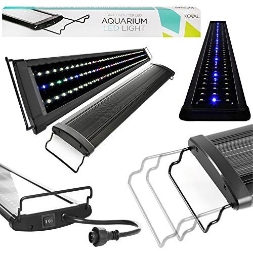 Koval Inc 129 LED Aquarium Light with Extendable Brackets, 36-Inch to 43-Inch (Bracket For Full Tanks compare prices)