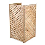 Home Sensibles 60' Outdoor Natural 3 Panel Air Conditioner Screen Privacy Fence Hideaway