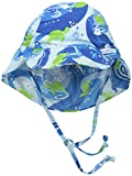 i play. Baby Boys' Flap Sun Protection Hat, Blue Turtle Batik, 9-18 Months