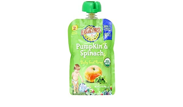 Amazon.com : Etapa Orgánica 2, calabaza y espinacas, 3.5 onza bolsa (paquete de 12) : Baby