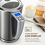 Electric Kettle Temperature Control, VAVA 1.7 L Stainless Steel Water Kettle with LCD Display & Adjustable Temperature(BPA-Free Build, Heat Resistant Handle, Strix Control, FDA Certification)