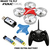 RTF Blade BLH8700 Inductrix Micro Indoor Quadcopter Drone + (1) Extra OEM Battery Bundle