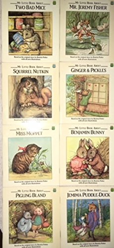 My Little Book About - 8 Book Set - Squirrel Nutkin - Ginger & Pickles - Miss Moppet - Benjamin Bunny - Jemima Puddle Duck - Pigling Bland - Mr. Jeremy Fisher - Two Bad Mice