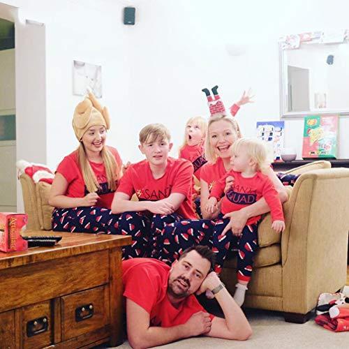 2 Imposta natalizio madre Outfit Bambini per pezzi la Pigiami stampati Junkai e da notte da famiglia bambini notte Pigiama padre abbinamenti per Pigiama 5Exwq6