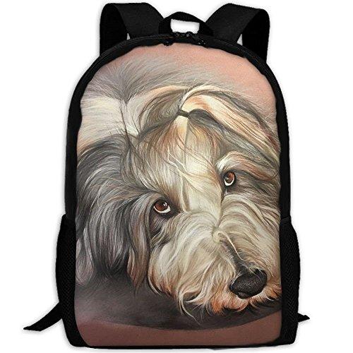 Lovely Dog Print Custom Casual School Bag Backpack Multipurpose Travel Daypack For Adult