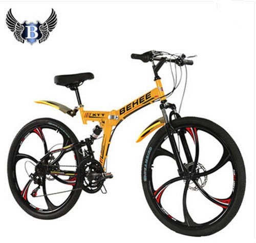 dpaerofly 21 Speed Sports Ride Mountain Bike Folding Bicycle 26'' Wheel Full Suspension (26' Cruiser Bike Wheels)