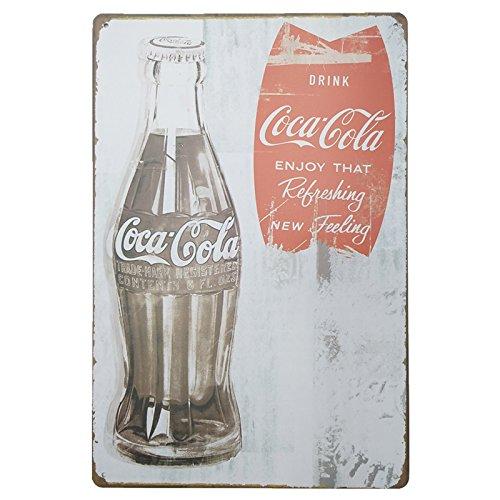 MARQUISE & LOREAN Coca Cola Placas Decorativas Pared Cocacola Chapas Vintage Metálicas Cocacola Elígeme (20 x 30 cm, Retro)