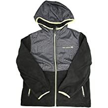 Free Country Boys Microtech Fleece Soft Shell Jacket, Black/Lime