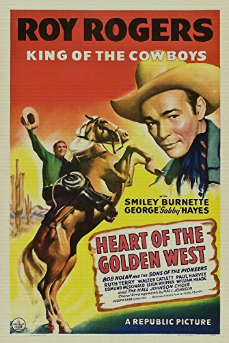 Ori Gallery - Heart of the Golden West, Roy Rogers, Smiley Burnette, George Gabby Hayes, Bob Nolan, 1942-16 by 24 inch