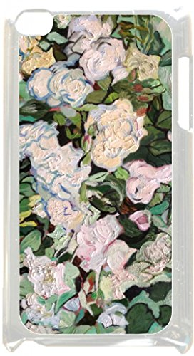 Vincent Van Gogh Roses - Case for the Apple Ipod 4th Generation-Hard White Plastic