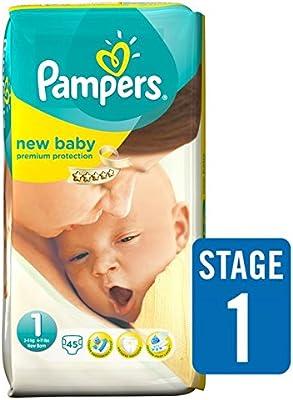 Pampers New Baby Pañales Tamaño 1 Pack Esencial 45 por paquete: Amazon.es: Salud y cuidado personal