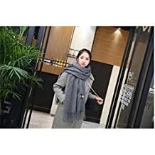Generic autumn winter _thick,_bee_embroidery_solid_color_Artificial_cashmere_stream Fancy_ Scarf shawl