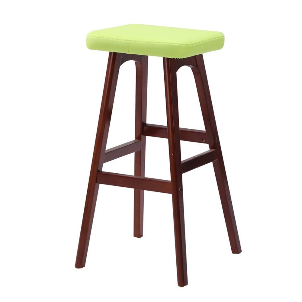 100%ソリッドウッドバースツール、ラグジュアリーフォアシート、手作りバーツール、79cmハイ ( 色 : Green A ) B07BRP55KD Green A Green A