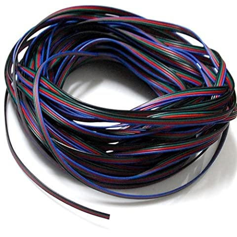 EvZ 4 Color 20m RGB Extension Cable Line for LED Strip RGB 5050 3528 Cord 4pin - Extension Wire