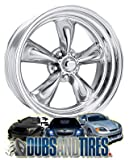 American Racing VN405 Custom Torq Thrust 2- Piece Polished Wheel with Polished Finish (18.00x8.00