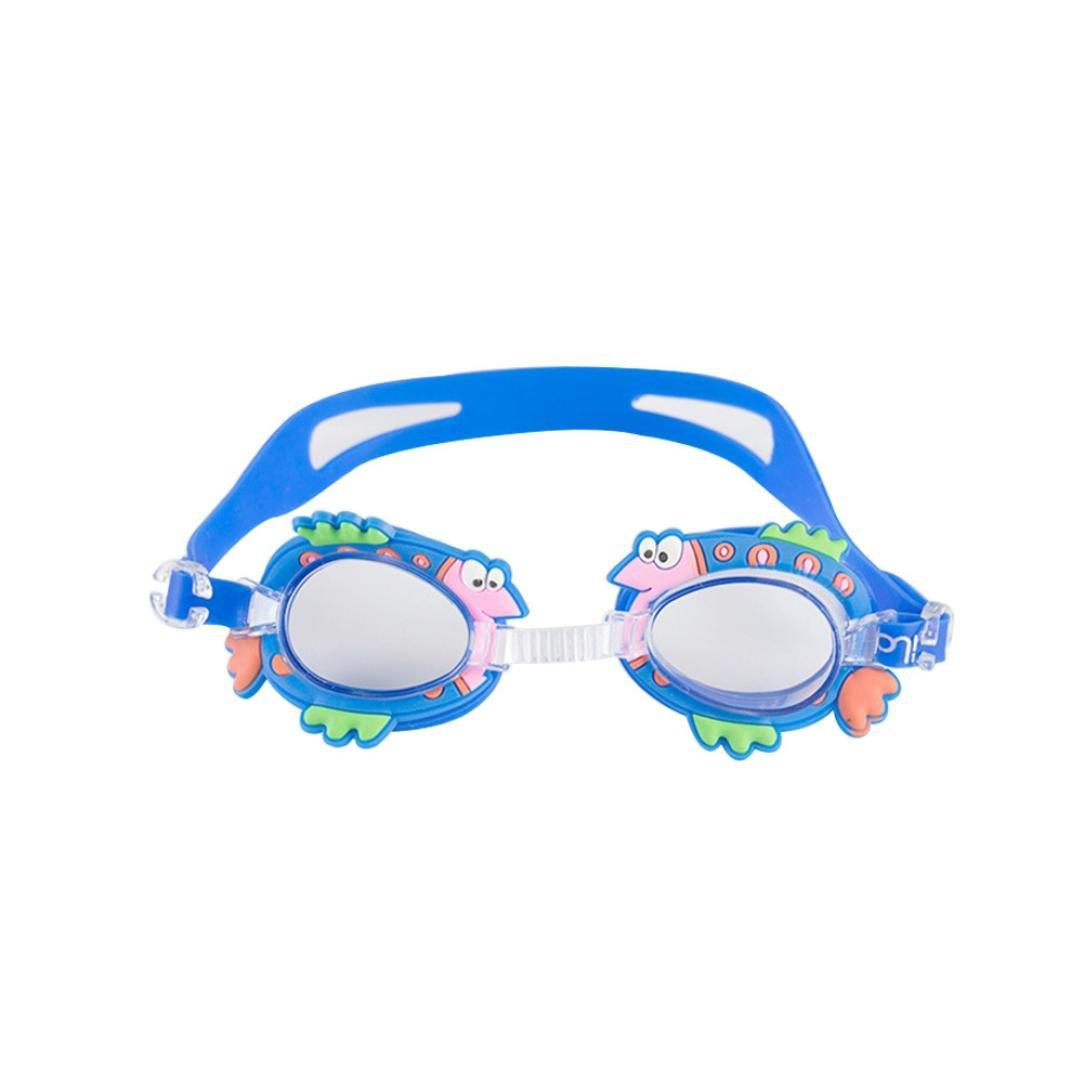 2239ee37470 Amazon.com   Ecosin Diving Underwater Swimming Goggles Kids Baby Boys Girls  Anti-fog Swim Glasses Adjustable (H)   Sports   Outdoors