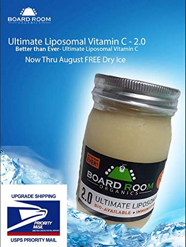 Ultimate Liposomal Vitamin C - 2.0 - Better Than Ever- Ultimate Liposomal Vitamin C | 3000mg Per Serving | 16oz | Non-GMO!|Board Room Organics/#1 Best Liposomal C on Market Today (Best Liposomal Vitamin C On The Market)
