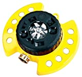 Dramm ColorStorm 9-Pattern Premium Turret Sprinkler With Heavy Duty Metal Base - Yellow #15023