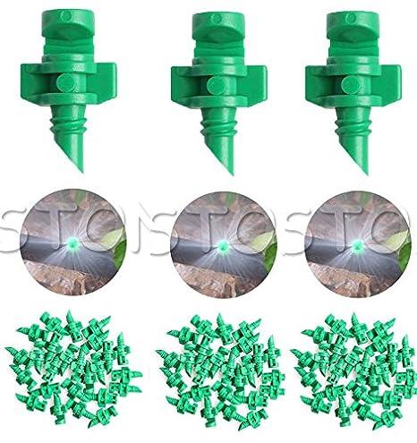 Rajiekart® 180 Degree Green Drip Irrigation Accessories Plant Watering Hydroponic Aeroponic Micro Misting Emitters Dripper Sprayers 10 Pcs