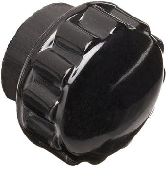 "Davies Thermoset Round Grip Utility Knob, Flute Rim, Threaded Hole, 1/4""-20 Thread Size X 3/8"" Thread Length, 7/8"" Diameter (Pack of 10)"