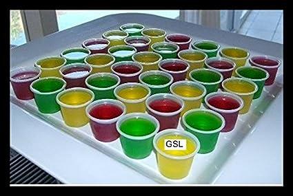 SYMTOP Plástico Desechables de 28,35 Ron Vodka Jelly Vasos de chupito Postre Copa Fiesta drrink 100/200 Piezas