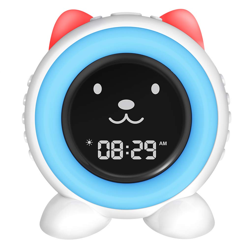 I·Code Kids Sleep Trainer Alarm Clock,Sleep Sound Machine, Touch Sensor Night Light & Wake Up Light