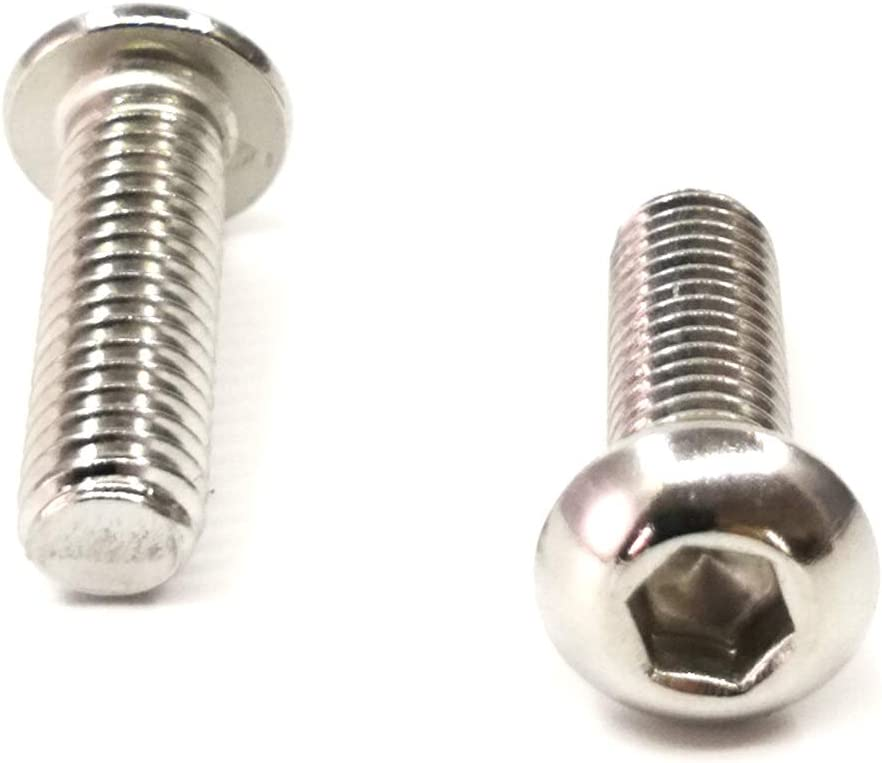 ZAYI M3-0.5 x 12mm Socket Button Head Socket Cap Screws 304 Stainless Steel Full Thread Furniture Bolts Fastener Set Machine Screws for Electronic Products 100pcs M3-0.5 x 12mm