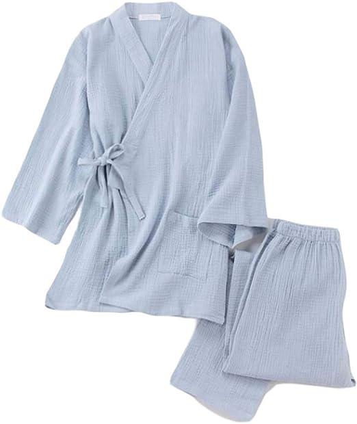 Pigeon Fleet Pijama de Gasa de algodón con Bata de casa Estilo ...