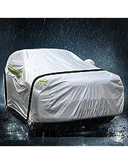 TOPOWN Autohoes, volledige garage, SUV 420D-Oxford-weefsel, fosforescerend autodekzeil, 500 x 190 x 150 cm, vuilafstotend, waterdicht, zonwering, autozeil, volledige garage voor winter en zomer