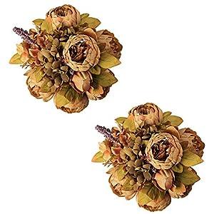 Fule Large Artificial Peony Silk Flower Bouquets Arrangement Wedding Centerpieces 64
