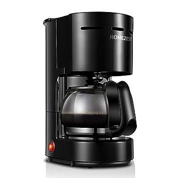 SLONG Cafetera, 4-6 Taza máquina de café, programable, Aislado máquina de café Americana Completamente automática, Negro: Amazon.es: Hogar