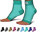SB SOX Compression Foot Sleeves for Men & Women - Best Plantar Fasciitis Socks for Plantar Fasciitis Pain Relief, Heel Pain, and Treatment for Everyday Use with Arch Support (Green, Large): more info