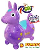 Gymnic Rody Horse Inflatable Bounce & Ride, ''Matty's Toy Stop'' Exclusive Purple & Pink Swirl (70254)