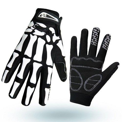 Anti-Slip Shock-absorbing Breathable Hand Skeleton Full Finger / Half Finger Gloves for Cycling Biking Hiking Camping Jogging Men/Women (XL)