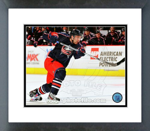 Columbus Blue Jackets Jack Johnson 2012 Action Framed Picture 8x10