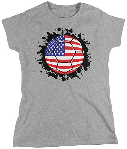 USA Soccer Ball, American Flag, USA Soccer TEAM Pride Women