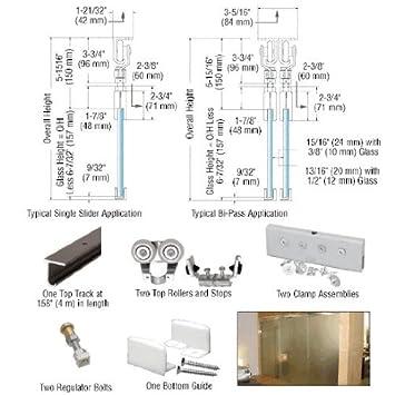 EZ Slide 180 Top Hung SingleTrack Sliding Door Kit