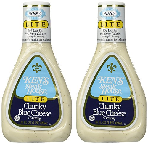 Ken's Steak House Lite Chunky Blue Cheese Dressing (2 Pack) (Cheese Light)