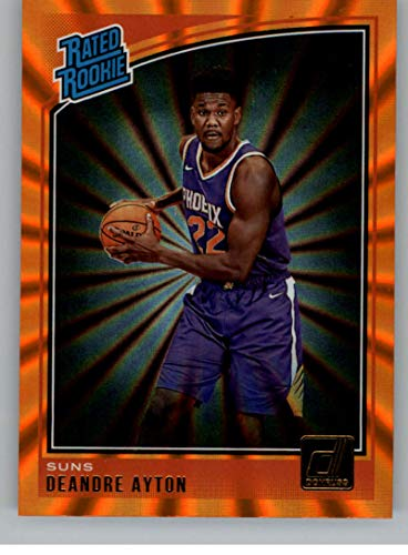 Phoenix Suns Laser - 2018-19 Donruss Holo Orange Laser Basketball #157 Deandre Ayton Phoenix Suns Rated Rookie Official NBA Trading Card From Panini Americal