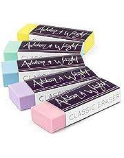 Ashton and Wright - Klassiskt suddgummi – latexfritt plastgummi – 5 stycken pastell, AW-ER-P5