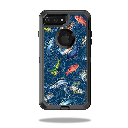 - MightySkins Skin for OtterBox Defender iPhone 8 Plus - Saltwater Compass | Protective, Durable, and Unique Vinyl Decal wrap Cover | Easy to Apply, Remove, and Change Styles | Made in The USA