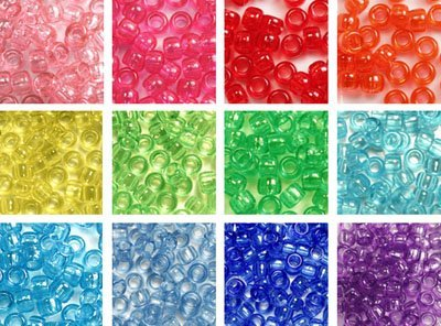 (Transparent Rainbow Beads Kit, 6x9mm, 12 Bags Variety Pack, 12 Colors - 300 Grams (About 1200 Beads), Gift Set)