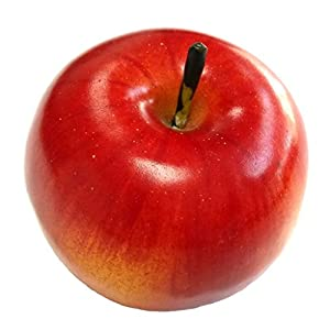 Gresorth 6pcs Lifelike Artificial Red Apple Faux Fake Apples Fruit Home House Kitchen Cabinet Decoration 4