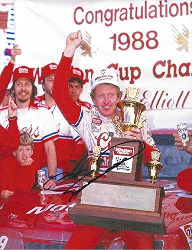 AUTOGRAPHED 1988 Bill Elliott #9 Coors Melling Racing WINSTON CUP SERIES CHAMPION (Victory Lane Trophy) Vintage Signed Collectible Picture NASCAR 9X11 Inch Glossy Photo with COA ()