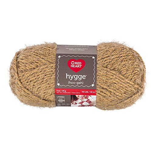 RED HEART E869.8334 Hygge Yarn, 5oz, Almond ()