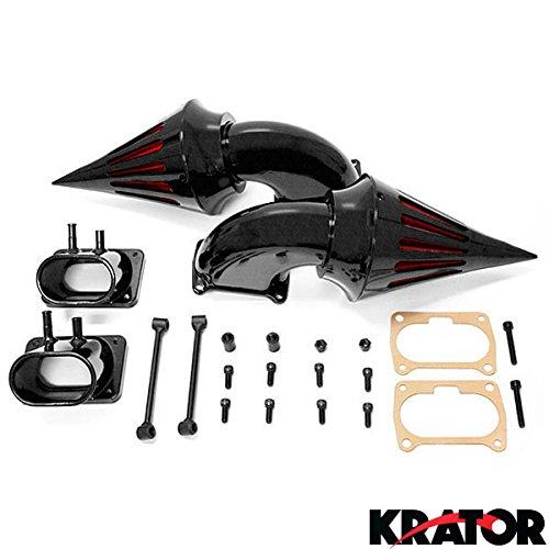 Krator Black Dual Spike Air Intake Cleaner - Plus Filters For Suzuki Boulevard M109 (All Years)