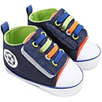"""Amiley Summer Baby Shoes Boy Girl Newborn Crib Soft Sole Shoe Hook & Loop Sneakers (Inches:5.1""""Age:9-12Month, Dark Blue)"""