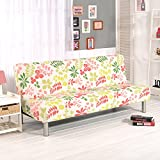 RUGAI-UE Sofa Slipcover sofa cover all fitted armless sofa bed cover type antiskid four pure living room,160-195cm sofa bed use,Hawaii - red green